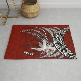 Polynesian - Hawaiian Kona Lava Tribal Print Rug