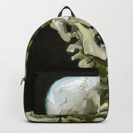 Vincent van Gogh - Head of a skeleton with a burning cigarette - Original white Backpack