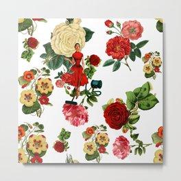 Keep it clean floral collage Metal Print