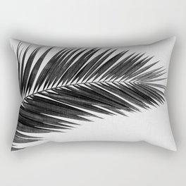 Palm Leaf Black & White I Rectangular Pillow