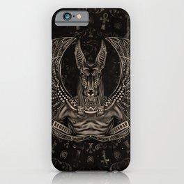 Anubis - Egyptian God Sepia iPhone Case