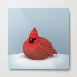 After Christmas cardinal bird Metal Print