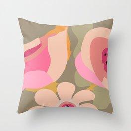 Flower Bucket Throw Pillow
