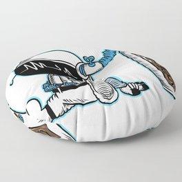 Coffee fueled astronaut Floor Pillow