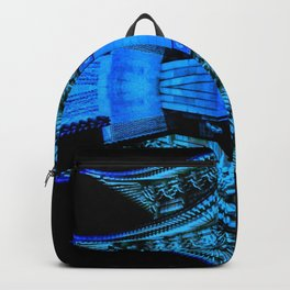 Abstract Blue and Black Art, Gyeongbokgung Palace, Seoul, Korea, Oriental Backpack