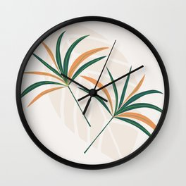 Colorful Leaflet Wall Clock