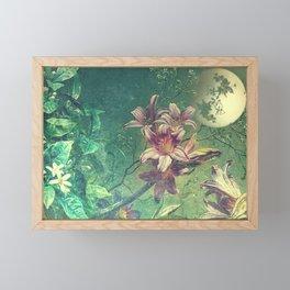 Daybreak under the fairy moon Framed Mini Art Print