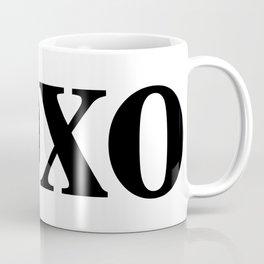 Black XOXO Coffee Mug