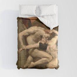 DANTE AND VIRGIL - WILLIAM-ADOLPHE BOUGUEREAU Comforters