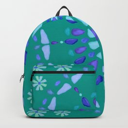 Sea Glass Sun and Flower Mosaic Backpack