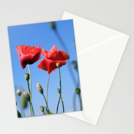 poppy flower no10 Stationery Cards