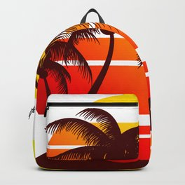 Sunset at the Beach Backpack
