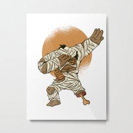 Dab Dabbing Mumie Halloween Tanzen Dance Trend Metal Print