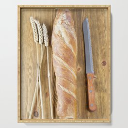 one fresh bread Serving Tray