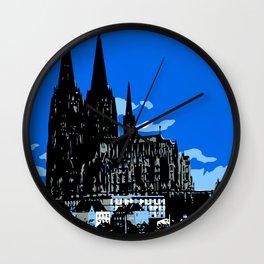 Koeln Cologne retro vintage style travel advertising Wall Clock