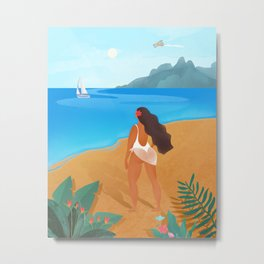 Beach girl Metal Print