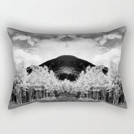 Aspens in Colorado Black & White Rectangular Pillow