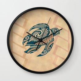 Vintage Hawaiian Tribal Turtle Wall Clock