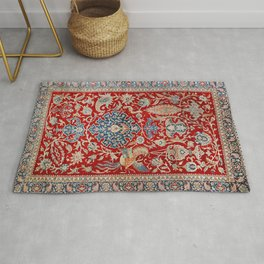 Turkey Hereke Old Century Authentic Colorful Royal Red Blue Blues Vintage Patterns Rug