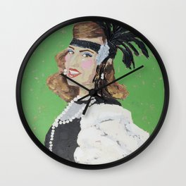 The Handsome Flapper Girl Wall Clock