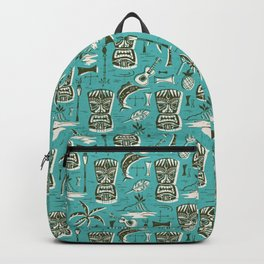 Tropical Tiki - Aqua Backpack