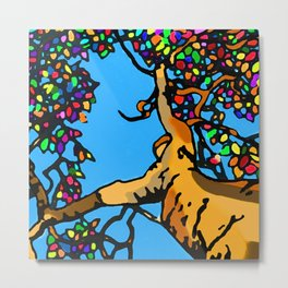 Diversity in a colorful leaves pattern of a tree that looks like a person Metal Print