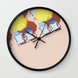 Beach Resort Ready For Business Wall Clock