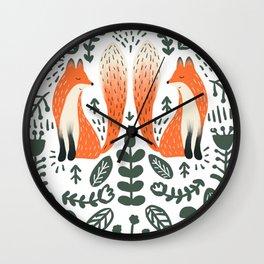 Fox Lore Wall Clock