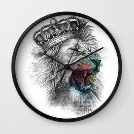 lion s head t shirt crown iron on lion head Wall Clock