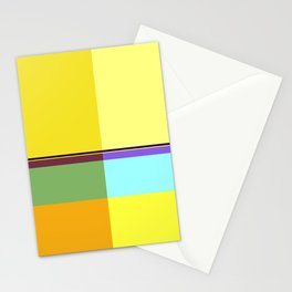 CASUAL YELLOW GEOMETRIC Stationery Cards