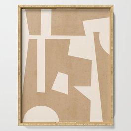 Minimal Abstract Art 30 Serving Tray