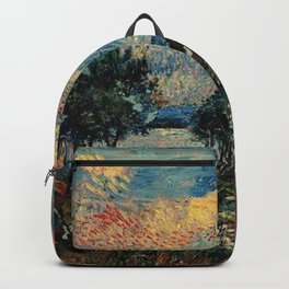 Autumn In Hampton Bays, South Hampton by David Davidovich Burliuk Backpack