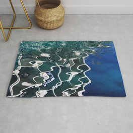 Abstract Lyrical Pond Waters Rug