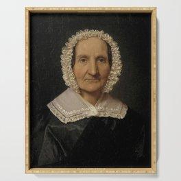 Christen Købke - Juliane Dorothea Købke, nee Ratz, the Artist's Mother-in-Law Serving Tray