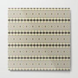 Ethnic grey and beige. Metal Print