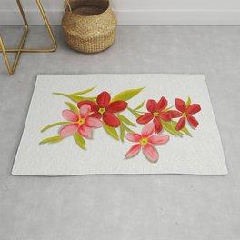 Red floral sprigs  Rug