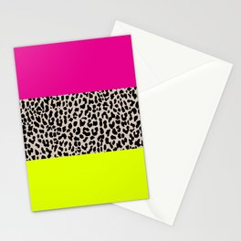 Leopard National Flag X Stationery Cards
