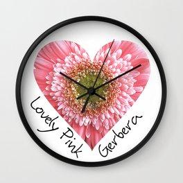 Lovely pink gerbera - Heart shape Wall Clock