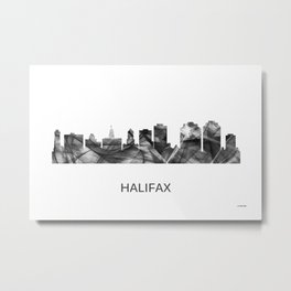 Halifax Nova Scotia Canada Skyline WB-BW Metal Print