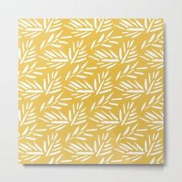 Tribal Husk - yellow Metal Print