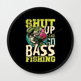 Go Bass Fishing Wall Clock