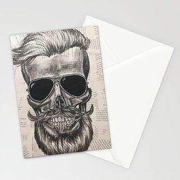 hipster skull Stationery Cards