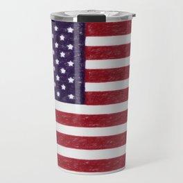 USA flag - in Crayon Travel Mug