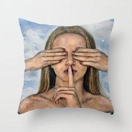 Silence in the Dark  Throw Pillow