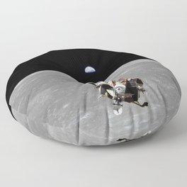 Nasa Picture 2: Apollo 11 the lunar module Floor Pillow