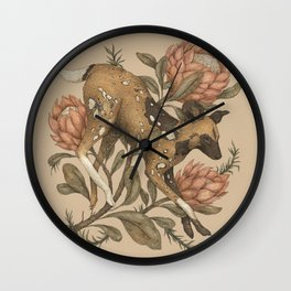 African Wild Dog Wall Clock