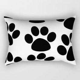 Puppy Paws Black Rectangular Pillow