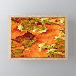Fallen Autumn Leaves Framed Mini Art Print