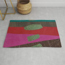 levitating over the leather rainbow Rug
