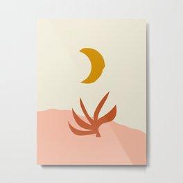 Waxing Crescent Moon Metal Print